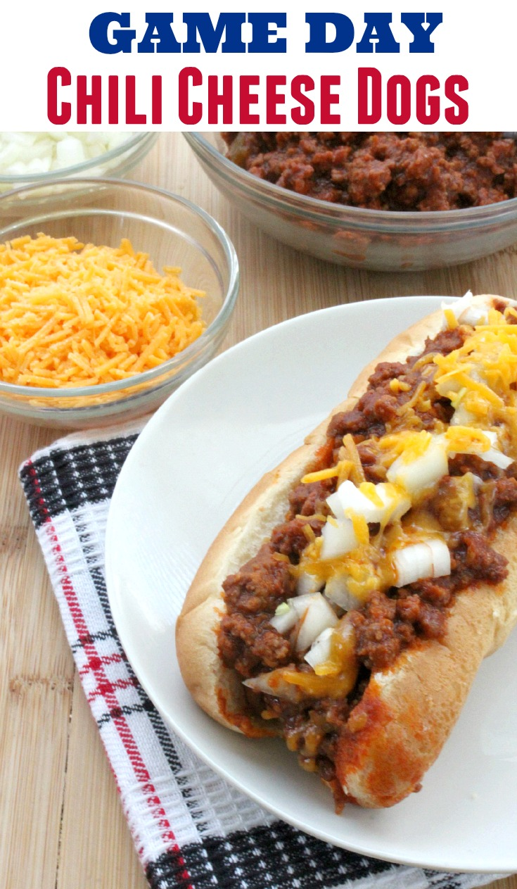 game day chili cheese dogs recipe