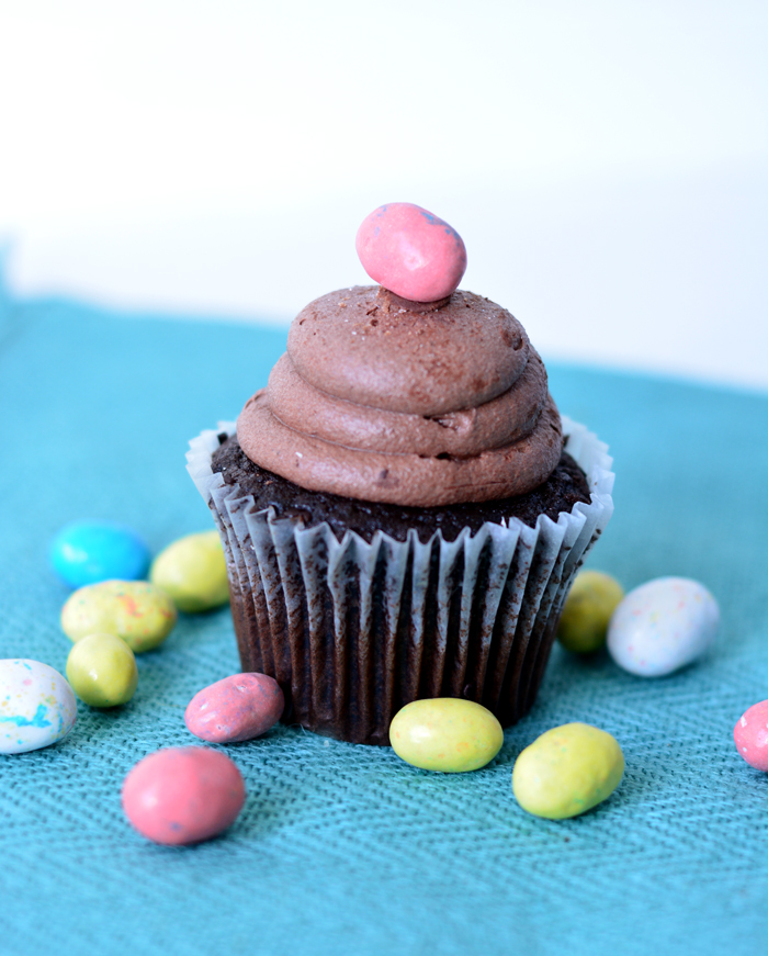 Easter Egg Whoppers Cupcakes