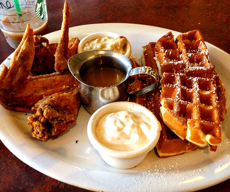 Chicken and Waffles at The Breakfast Bar