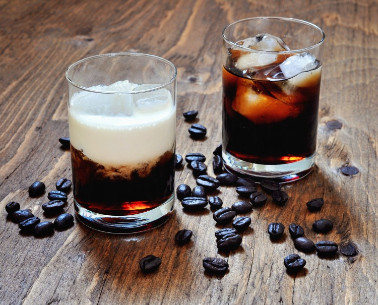 Kahlua liqueur with coffee