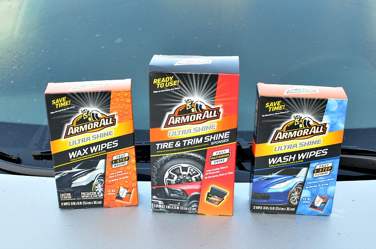 Armor All Ultra Shine Wash & Wax Wipes and Ultra Shine Tire Sponges
