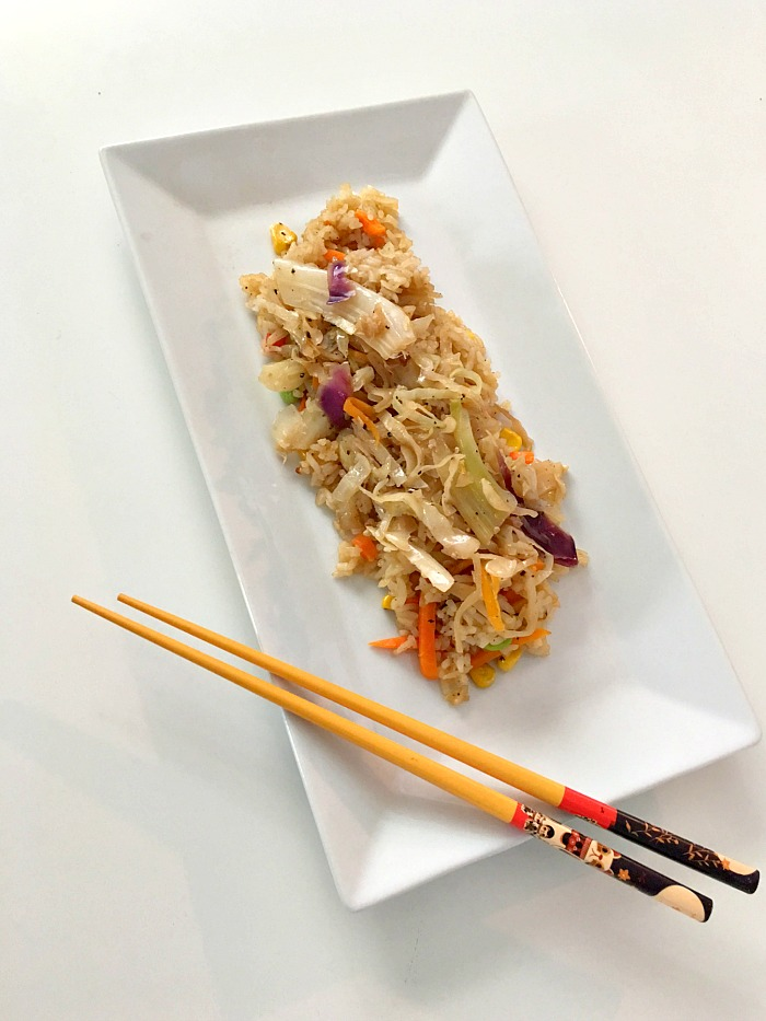 Ling Ling Chinese-Style Vegetable Fried Rice and Egg Roll Stir Fry