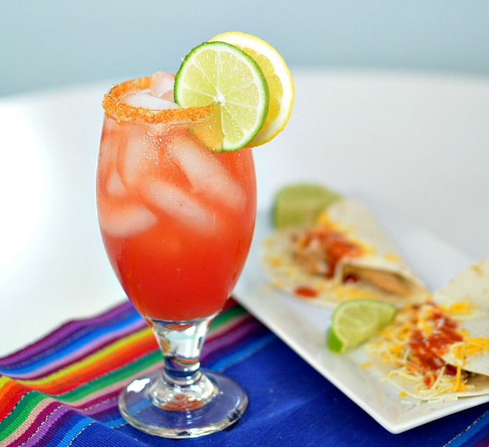 Chicharrones Clamato Michelada
