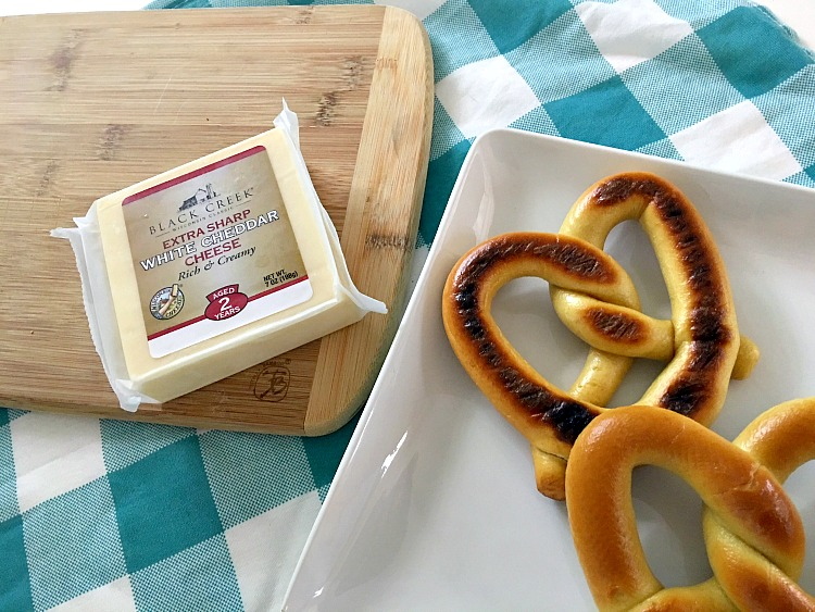 Grilled Jalapeno Cheddar Cheese Pretzel